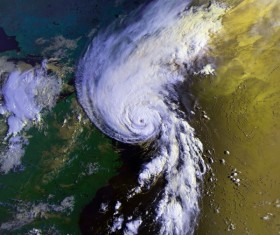 Cyclone cloud system Stock Photo 09