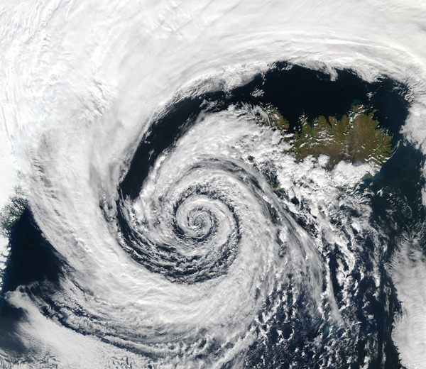 Cyclone cloud system Stock Photo 11