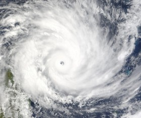 Cyclone cloud system Stock Photo 12