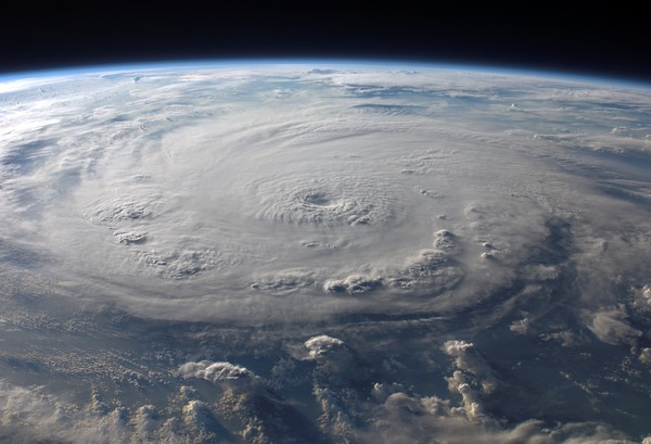 Cyclone cloud system Stock Photo 14