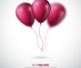 Dark red balloon background illustration vector