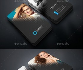 Dark styles business cards PSD template
