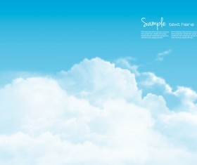 Day sky with white clouds background vector 02
