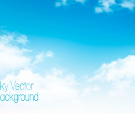 Day sky with white clouds background vector 03