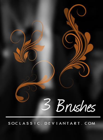 Decorative flower photoshop brushes