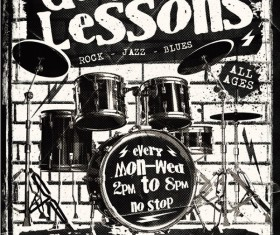 Drum Lessons Flyer Psd Template