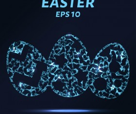 Eastar egg with points lines 3D vector