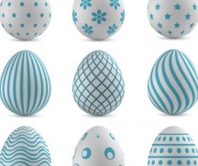 Easter colored egg set vector 04