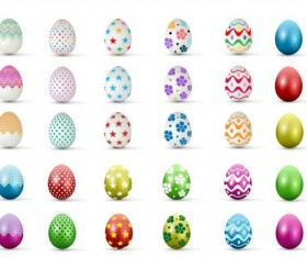 Easter colored egg set vector 05