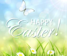 Easter natural background vector