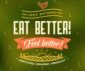 Eat better poster vector material 01