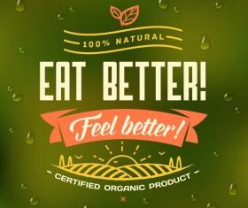 Eat better poster vector material 01