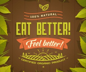Eat better poster vector material 02