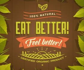 Eat better poster vector material 02