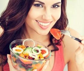 Eat healthy vegetarian vegetable salad HD picture 01