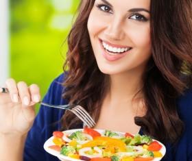 Eat healthy vegetarian vegetable salad HD picture 02