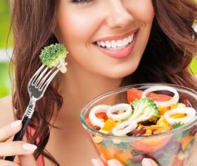 Eat healthy vegetarian vegetable salad HD picture 03