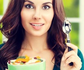 Eat healthy vegetarian vegetable salad HD picture 04