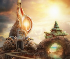 Fantastic castle Traveling in a dream HD picture 04