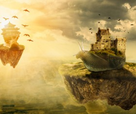 Fantastic castle Traveling in a dream HD picture 05
