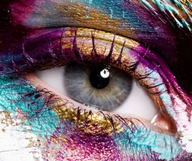 Fashion eye shadow and eye makeup Stock Photo 01