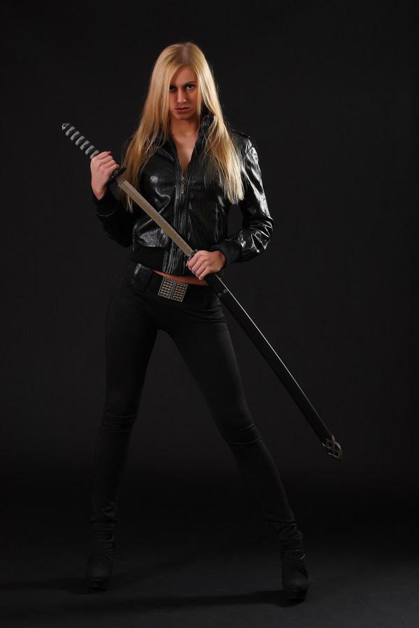 female warrior sword stock photo free download