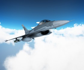 Fighter aircraft Stock Photo 02