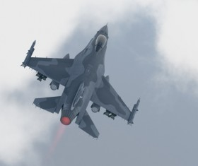 Fighter aircraft Stock Photo 03
