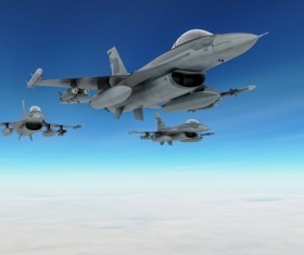 Fighter aircraft Stock Photo 04