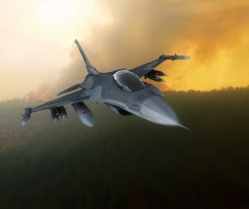Fighter aircraft Stock Photo 06