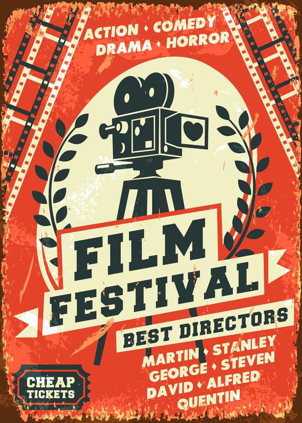 film festival poster vector material 01