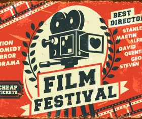 Film festival poster vector material 02