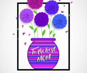 Flower with mother day background vectors 04