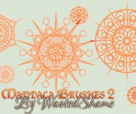 Free Mandala photoshop brushes