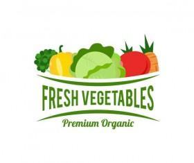 Fresh vegetables logo design vector 03