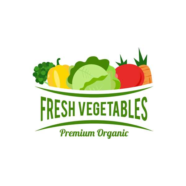 Fresh vegetables logo design vector 03