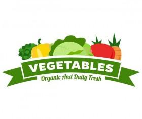 Fresh vegetables logo design vector 04