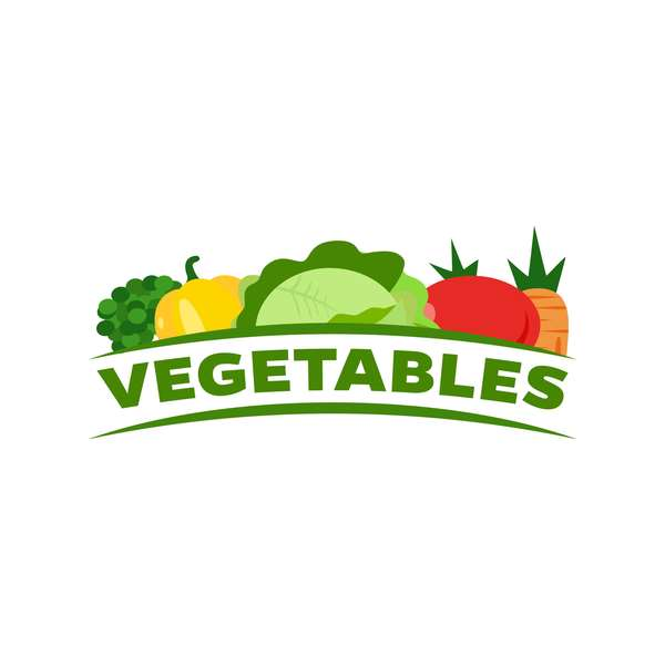 Fresh vegetables logo design vector 05