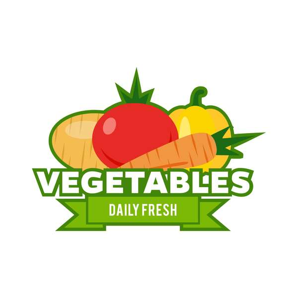 Fresh vegetables logo design vector 06