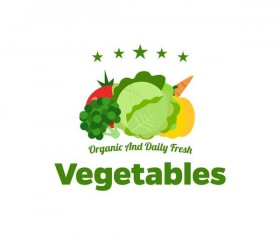 Fresh vegetables logo design vector 07