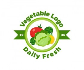Fresh vegetables logo design vector 08