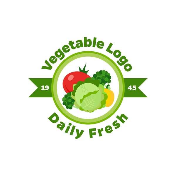 Fresh vegetables logo design vector 08