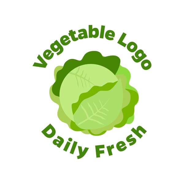 Fresh vegetables logo design vector 09