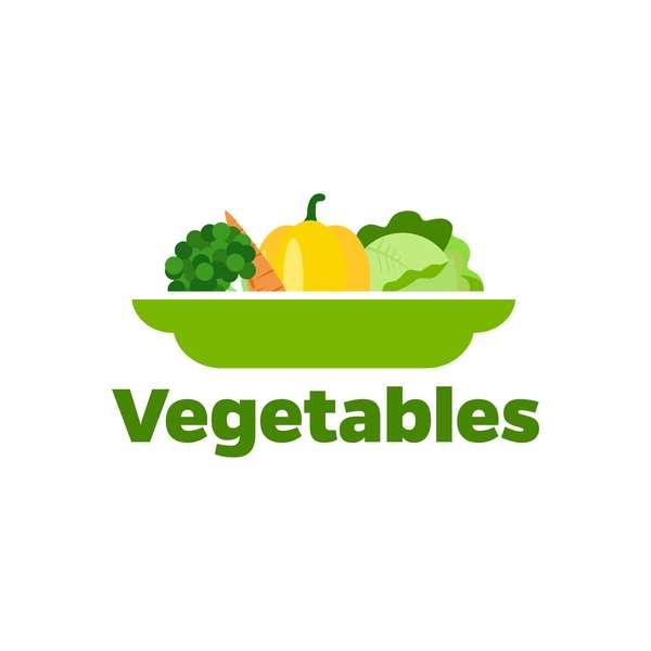 Fresh vegetables logo design vector 10