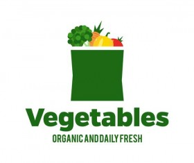 Fresh vegetables logo design vector 12
