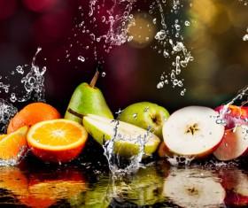 Fruits and Splashing water Stock Photo 01