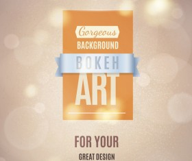 Gargeaus bokeh background with ribbon vector