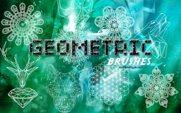Geometric photoshop brushes