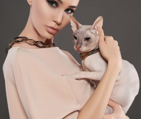 Girl with cat HD picture 04