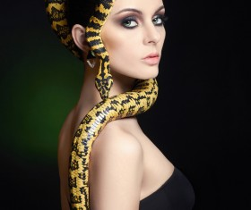 Girl with snake HD picture 04